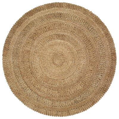 Carma Jute Natural Area Rug Rug Size: Round 4
