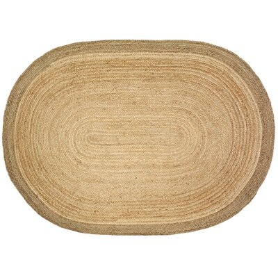 Millwood Jute Natural Area Rug Rug Size: Oval 5 x 7