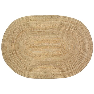 Yeung Jute Natural Area Rug Rug Size: Oval 7 x 9