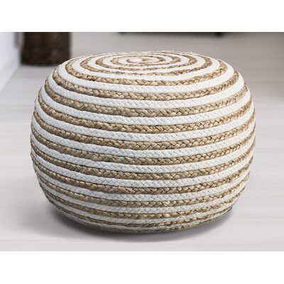 Fort Lupton Pouf Upholstery: Natural/White
