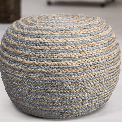 Fort Lupton Pouf Upholstery: Natural/Gray