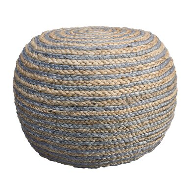 Fort Lupton Pouf Ottoman Upholstery: Natural/Gray