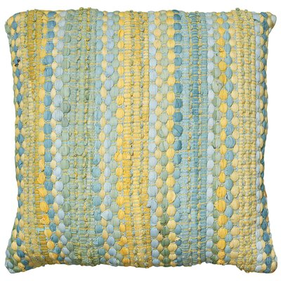 Braided Altair Decorative Cotton Throw Pillow Color: Blue/Yellow
