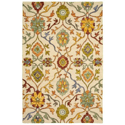 Duron Hand-Tufted Wool Beige Area Rug Rug Size: 8 x 10