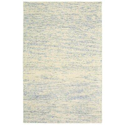Dunbarton Pin Dot Hand-Hooked Wool Blue Area Rug Rug Size: 8 x 10