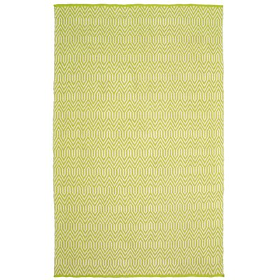 Johnstown Inside-Out Hand-Woven Green Indoor/Outdoor Area Rug Rug Size: 8 x 10
