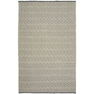 Johnstown Inside-Out Hand-Woven Gray/White Indoor/Outdoor Area Rug Rug Size: 5 x 79