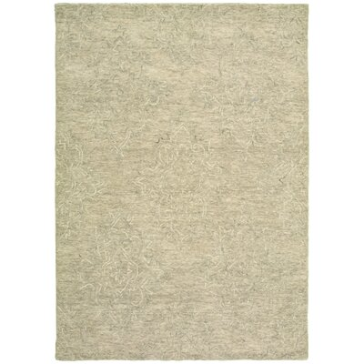 Durrant Hand-Tufted Wool Light Gray Area Rug Rug Size: 9 x 12