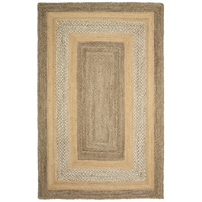 Lechez Hand-Woven Gray/Beige Area Rug Rug Size: 8 x 10