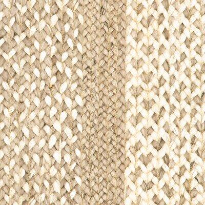 Lechez Jute Hand-Woven Beige Area Rug Rug Size: 8 x 10