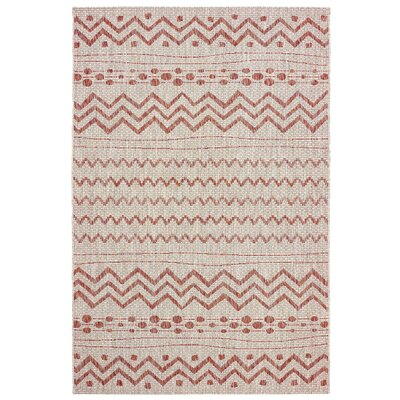 Shep Reversible Beige/Red Indoor/Outdoor Area Rug Rug Size: 5 x 8