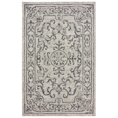 Dinesh Reversible Beige/Black Indoor/Outdoor Area Rug Rug Size: 8 x 10