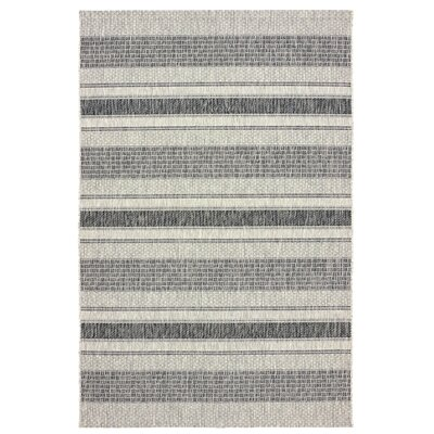 Maiah Reversible Black/Beige Indoor/Outdoor Area Rug Rug Size: 8 x 10