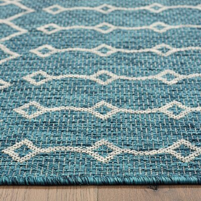 Dilip Reversible Blue Indoor/Outdoor Area Rug Rug Size: 8 x 10