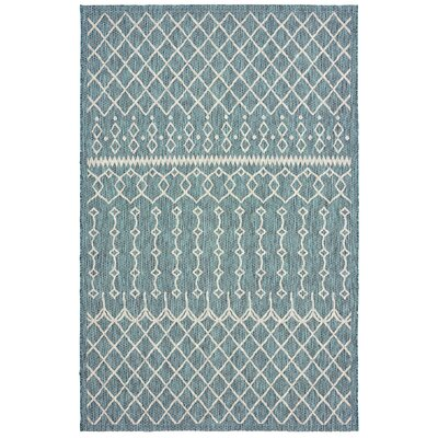 Dilip Reversible Blue Indoor/Outdoor Area Rug Rug Size: 5 x 8