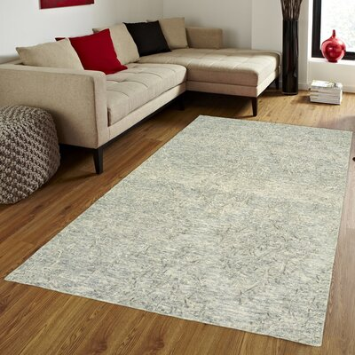 Durrant Hand-Tufted Wool Medium Blue Area Rug Rug Size: 5 x 79