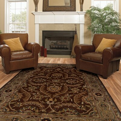 Eulalia Med Floral Hand-Tufted Brown/Beige Area Rug Rug Size: 5 x 79
