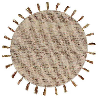 Arinna Criss-Crossed Autumn Rust Area Rug Rug Size: Round 4