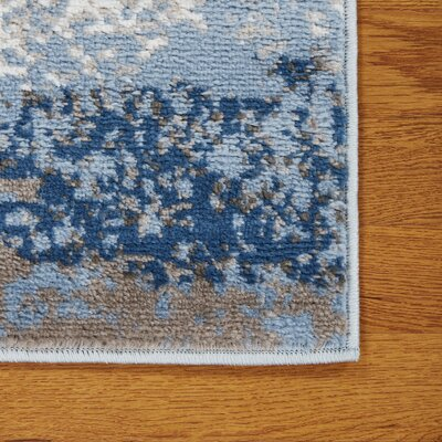 Riehl Blue Area Rug Rug Size: Rectangle 79 x 95