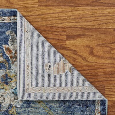 Amory Jacobean Blue Area Rug Rug Size: Rectangle 5 x 8