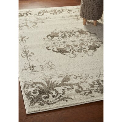 Pinson Beige/Walnut Area Rug Rug Size: Rectangle 52 x 72