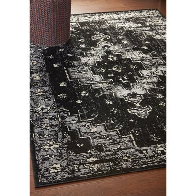 Rueben Black/Gray Area Rug Rug Size: Runner 21 x 75