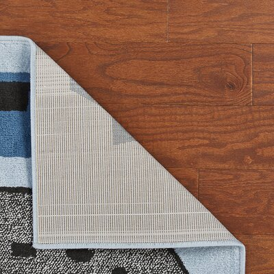 Gulf Light Blue/Gray Area Rug Rug Size: Rectangle 36 x 56