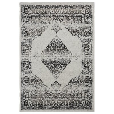 Pinson Contemporary Beige/Walnut Area Rug Rug Size: Rectangle 79 x 95