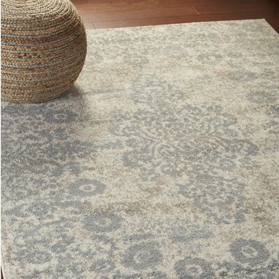 Pinson Blush Gray Area Rug Rug Size: Rectangle 79 x 95