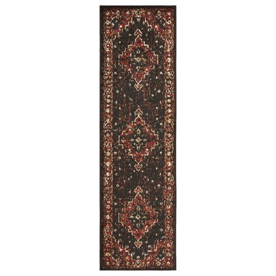 Liberty Hill Black/Beige Area Rug Rug Size: Runner 21 x 75