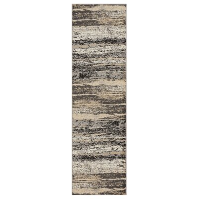 Hammitt Gray/Black Area Rug Rug Size: Runner 21 x 75