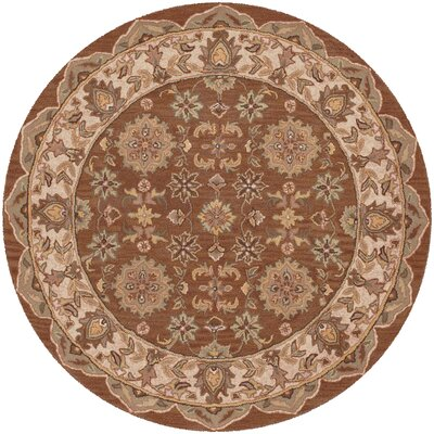 Shapes Coffee Persian Rug Rug Size: Round 5