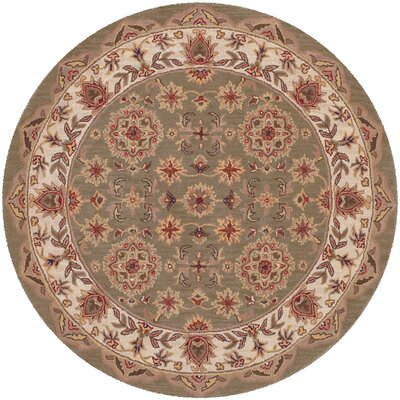 Shapes Green Persian Rug Rug Size: Round 5