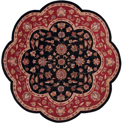 Shapes Black/Red Persian Area Rug Rug Size: Novelty 5