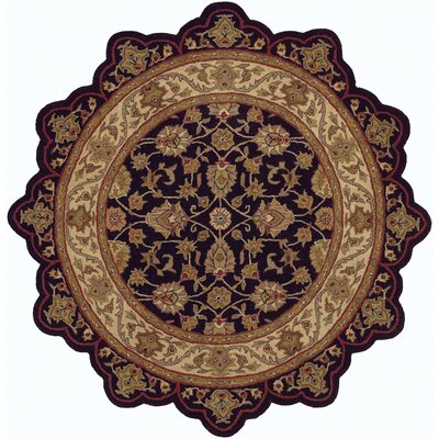 Shapes Black/Ivory Persian Rug Rug Size: Novelty 5 x 5