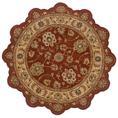 Shapes Rust & Gold Persian Rug Rug Size: Novelty 79 x 79