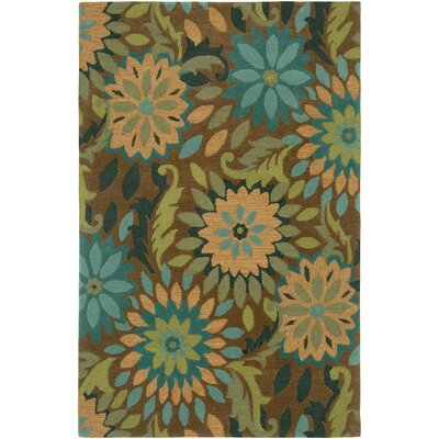 Dazzle Hand-Hooked Taupe Area Rug Rug Size: 5 x 79