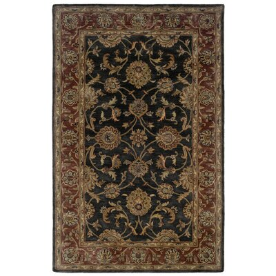 Eulalia Floral Hand-Tufted Charcoal/Rust Area Rug Rug Size: 5 x 79