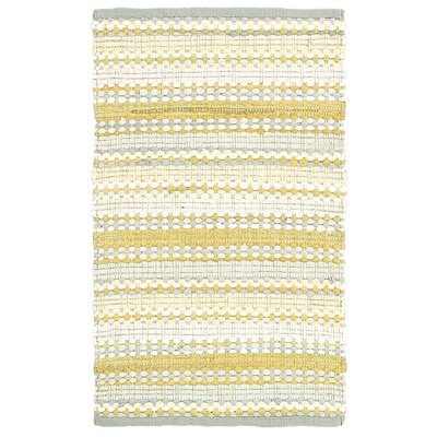 Dhurry Yellow/Gray Area Rug Rug Size: 5 x 8