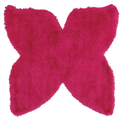 Senses Shag Butterfly Pink Area Rug Rug Size: Butterfly 5 x 5