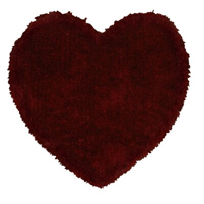 Senses Shag Heart Red Arera Rug Rug Size: Heart 4