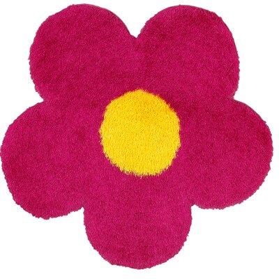 Senses Shag Pink Area Rug Rug Size: Flower 4