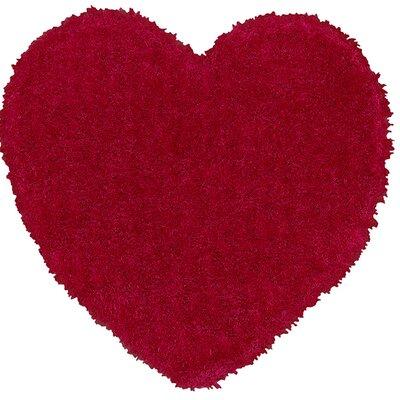 Senses Shag Pink Heart Area Rug Rug Size: Heart 4