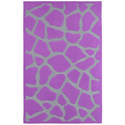 Fashion Purple Giraffe Area Rug Rug Size: 5 x 79