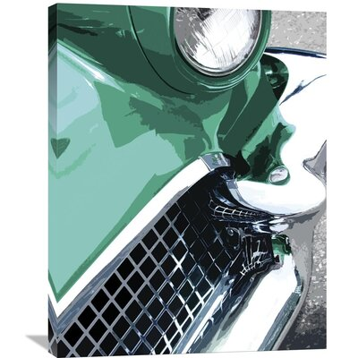Tail Fins and Two Tones III by Mike Patrick Graphic Art on Wrapped Canvas Size: 35