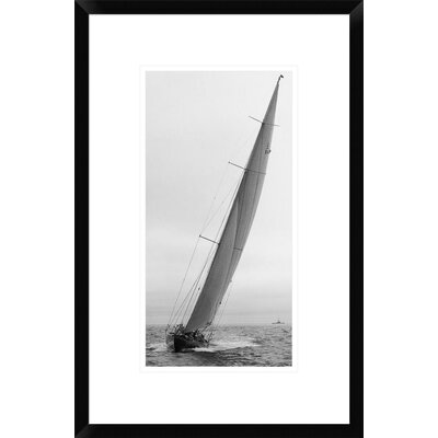 Sailboat Racing, 1934 Framed Photographic Print Size: 22
