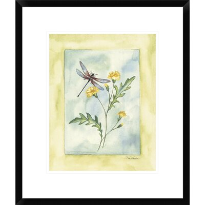 Dragonfly with Yellow Flowers by Paige Houghton Framed Painting Print DPF-112302-1216-266