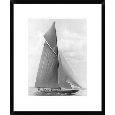 "The Vanitie During the America's Cup, 1910 by Edwin Levick Framed Photographic Print Size: 22"" H x 18"" W x 1.5"" D DPF-375529-1216-266"