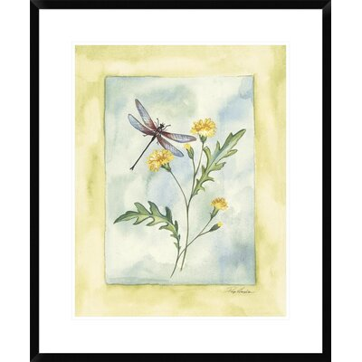 Dragonfly with Yellow Flowers by Paige Houghton Framed Painting Print DPF-112302-1824-266