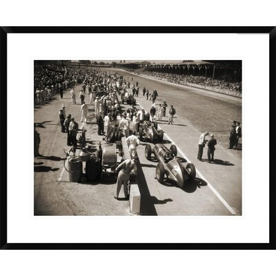 Pit Stop at the Indianapolis 500, 1948 Framed Photographic Print Size: 24